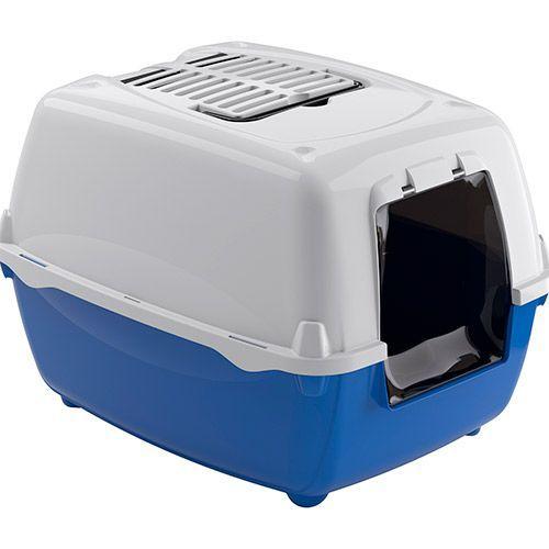 Туалет для кошек FERPLAST Триплекс с сеткой и бортом малый 41х31х13см