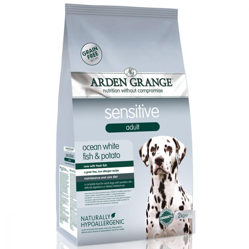 Корм для собак ARDEN GRANGE Sensitive с деликатным желудком и чувствительной кожей сух. 2кг корм сухой arden grange беззерновой для взрослых кошек с деликатным желудком и или чувствительной кожей 0 4 кг