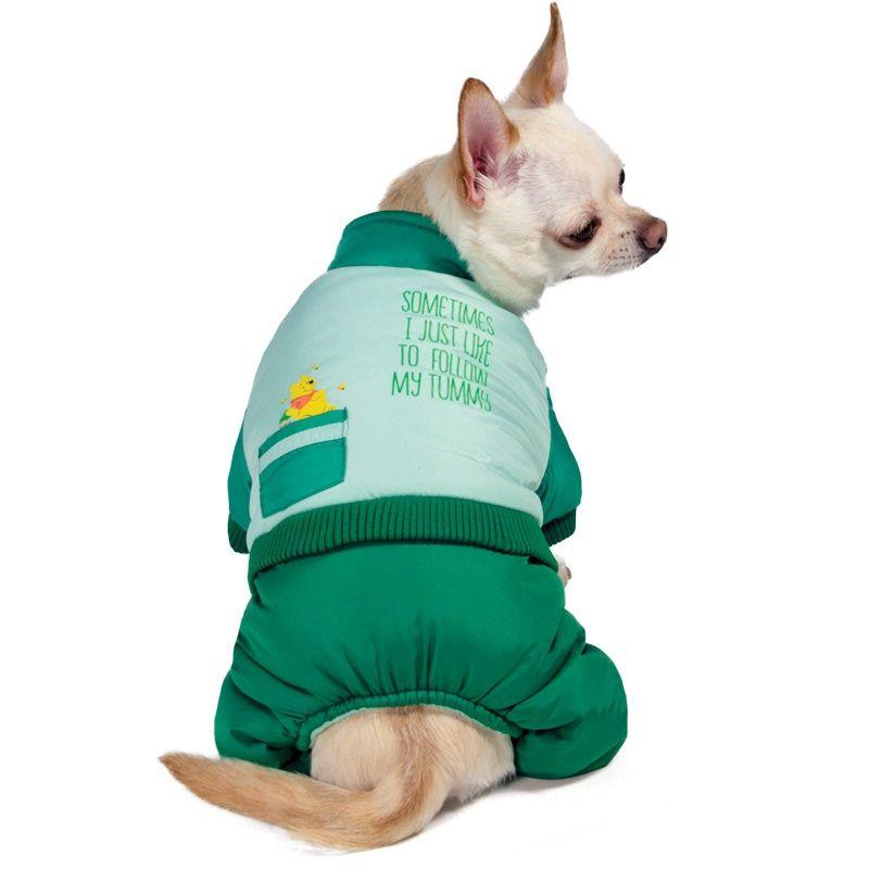 Комбинезон для собак TRIOL Disney Winnie-the-Pooh зимний Green S, размер 25см winnie