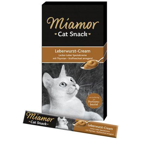 Лакомство для кошек Miamor Ливерный крем 15г 6шт