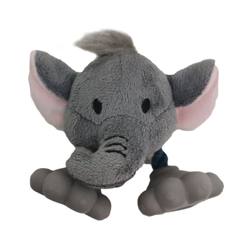 Игрушка для собак CHOMPER Mini Plush Слон плюш с ногами из винила и пищалкой 10 см