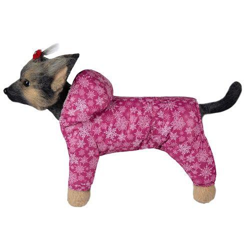Комбинезон для собак Dogmoda Зима девочка, размер 1 20см комбинезон для собак dogmoda сова унисекс цвет оранжевый бежевый размер 2 m