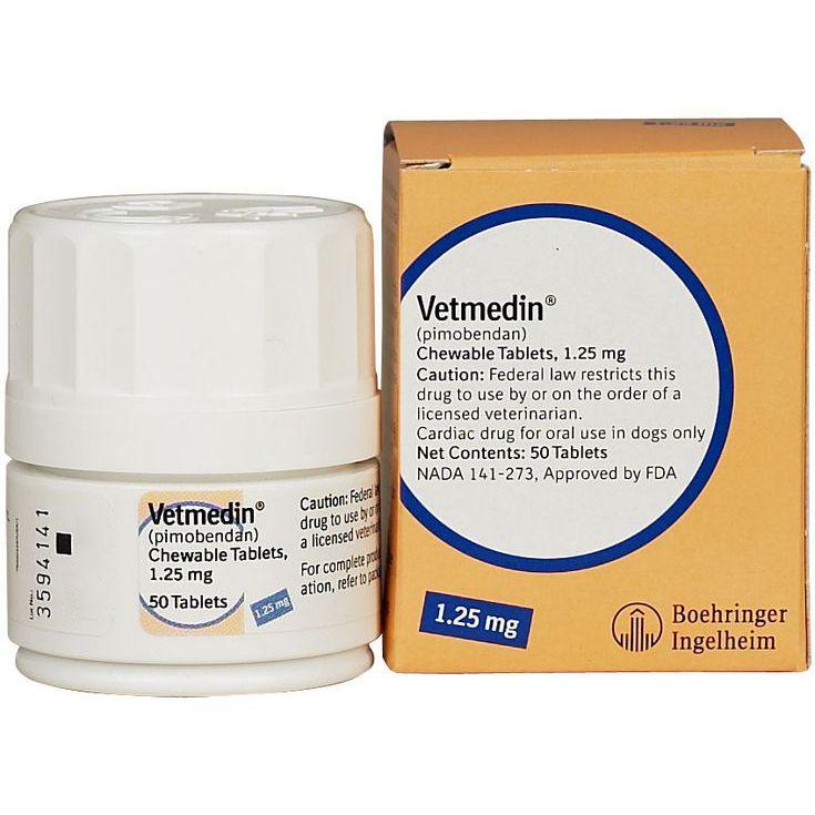 Таблетки жевательные BOEHRINGER INGELHEIM Ветмедин 1,25мг 50таб