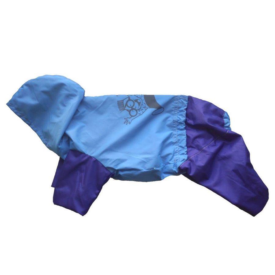 Комбинезон-плащ для собак ДОГ МАСТЕР двухцветный унисекс размер XXXL 38см комбинезон плащ для собак дог мастер на подкладке с отделкой размер xxxl 38 см