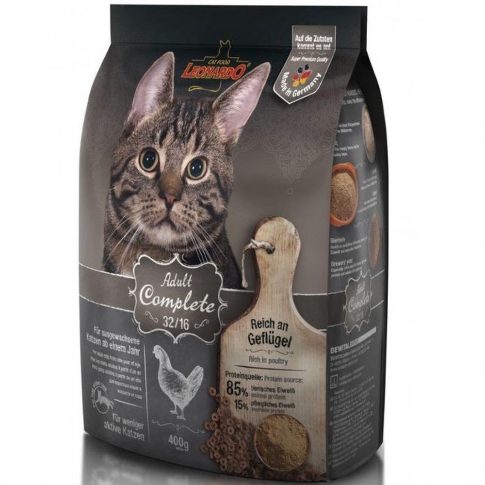 Корм для кошек Leonardo Сomplete 32/16 Курица сух. 400г
