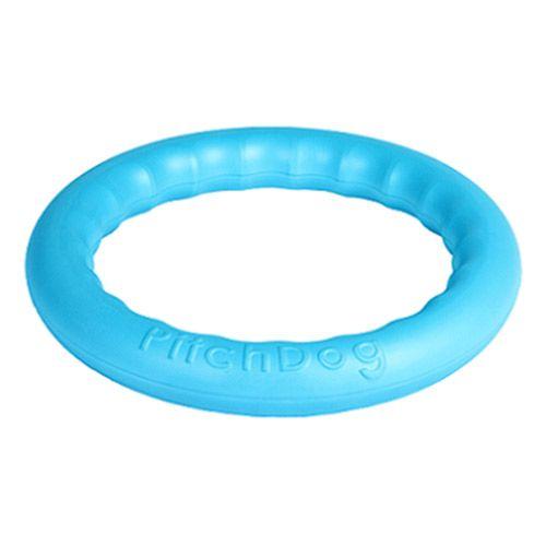 Игрушка для собак PitchDog Игровое кольцо для апортировки d28см голубое