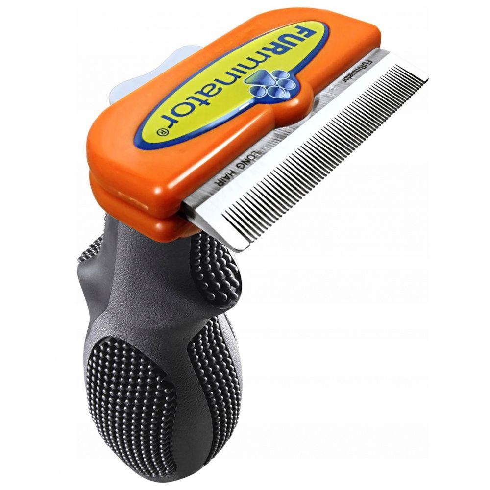 Фото - Фурминатор для собак FURminator для длинношерстных средних пород 7см фурминатор для собак furminator для длинношерстных мелких пород 4см