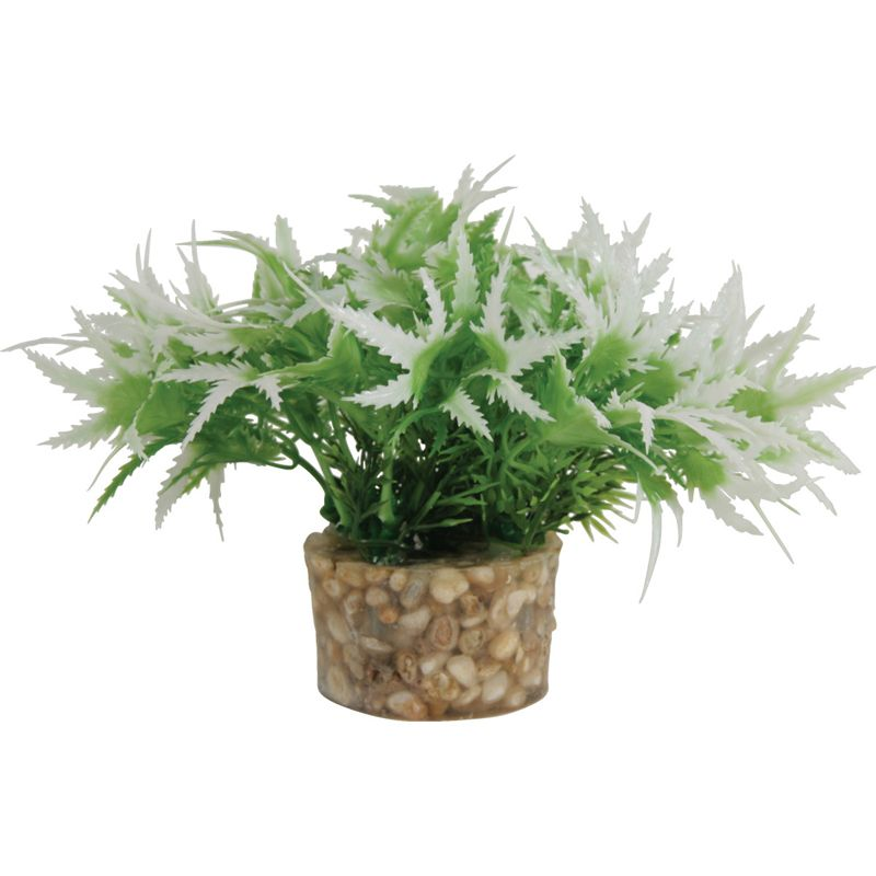 Растение для аквариумов ZOLUX пластиковое в грунте 5x5x13см S2