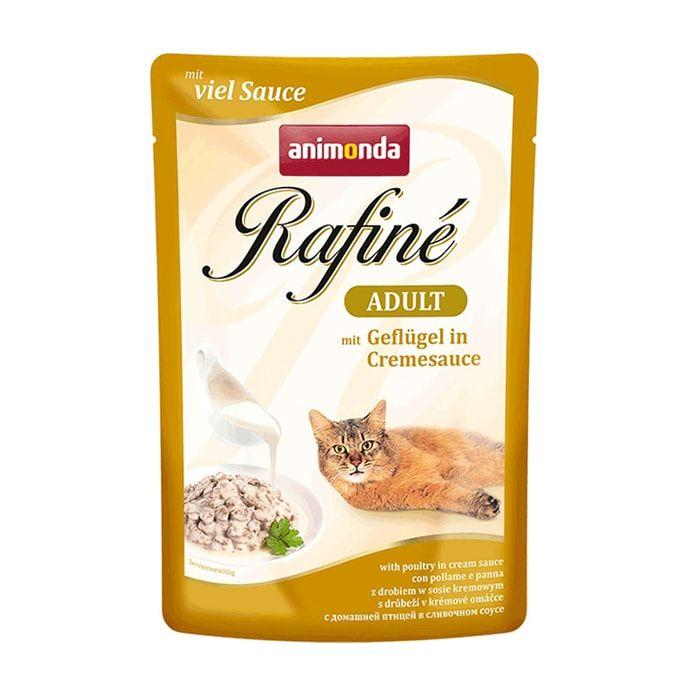 Фото - Корм для кошек Animonda Rafin Soup домашняя птица в сливочном соусе конс. пауч корм для кошек animonda rafin soup коктейль из индейки телятины и сыра конс 100г