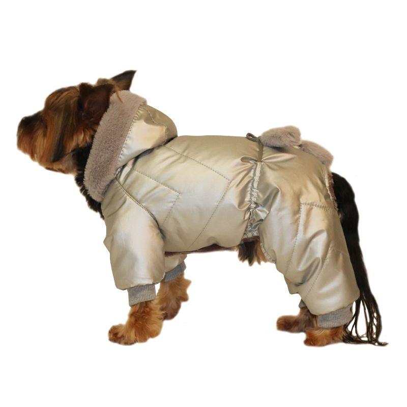 Комбинезон для собак YORIKI Космонавт унисекс L 28 см комбинезон для собак yoriki космонавт унисекс s 20 см