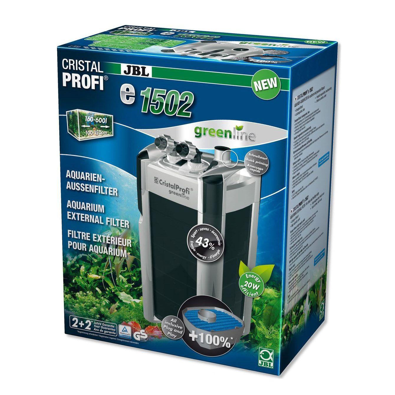 Фильтр JBL CristalProfi e1502 greenline - Эконом. внешний фильтр для аквариумов от 200 до 700л