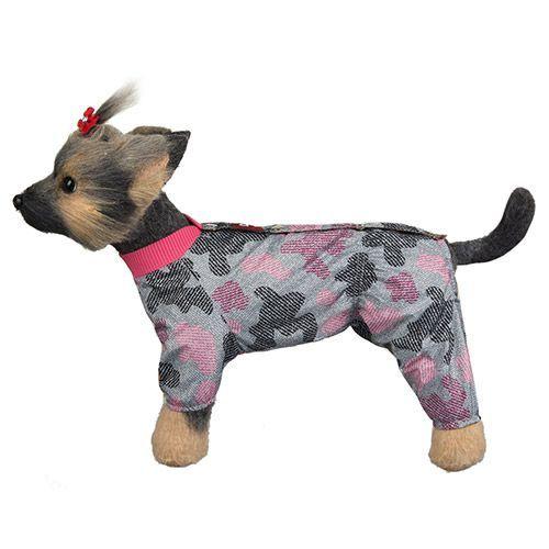 Комбинезон для собак Dogmoda Мегаполис девочка, размер 1 20см комбинезон для собак dogmoda сова унисекс цвет оранжевый бежевый размер 2 m