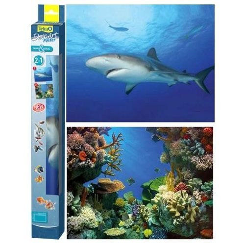 Фон TETRA DecoArt двухсторонний Акула/Кораллы 45х60 см шт.
