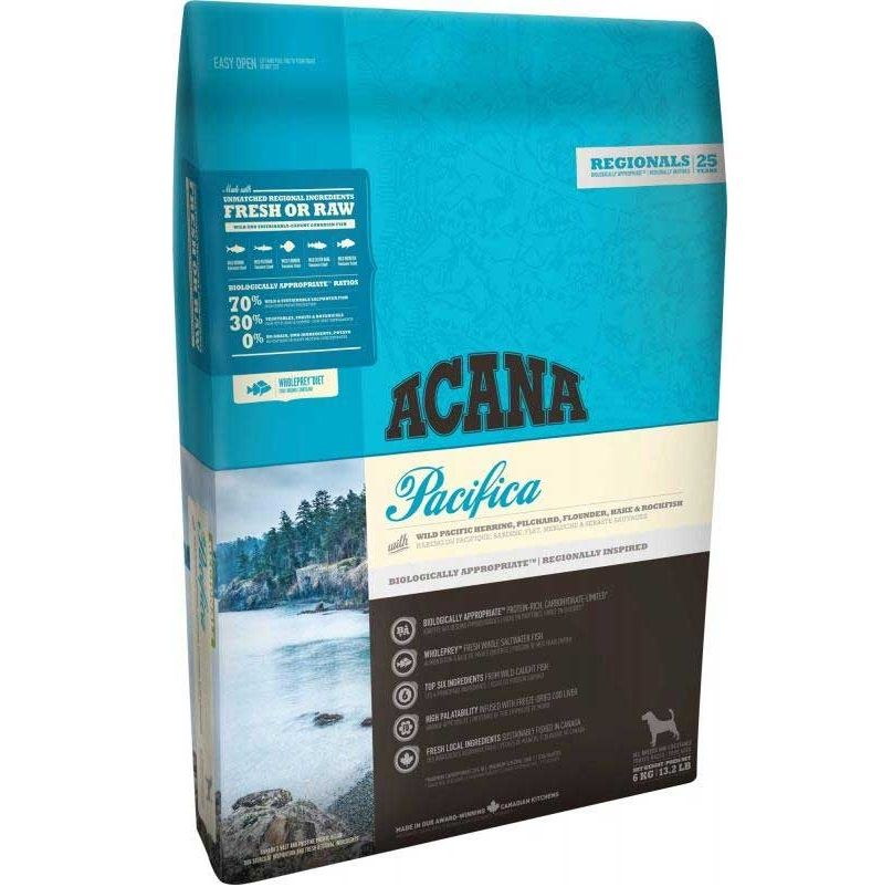 Корм для собак и щенков ACANA Pacifica для всех пород, сельдь,сардина, камбала,треска, хек сух. 2кг корм для собак и щенков acana wild coast для всех пород рыба резаный овес сух 2кг