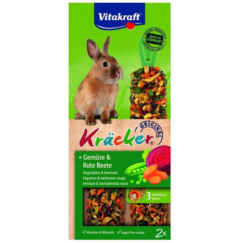 Лакомство для кроликов VITAKRAFT Крекеры овощные 2шт/уп лакомство для кроликов vitakraft крекеры original свекла и овощи 112 г