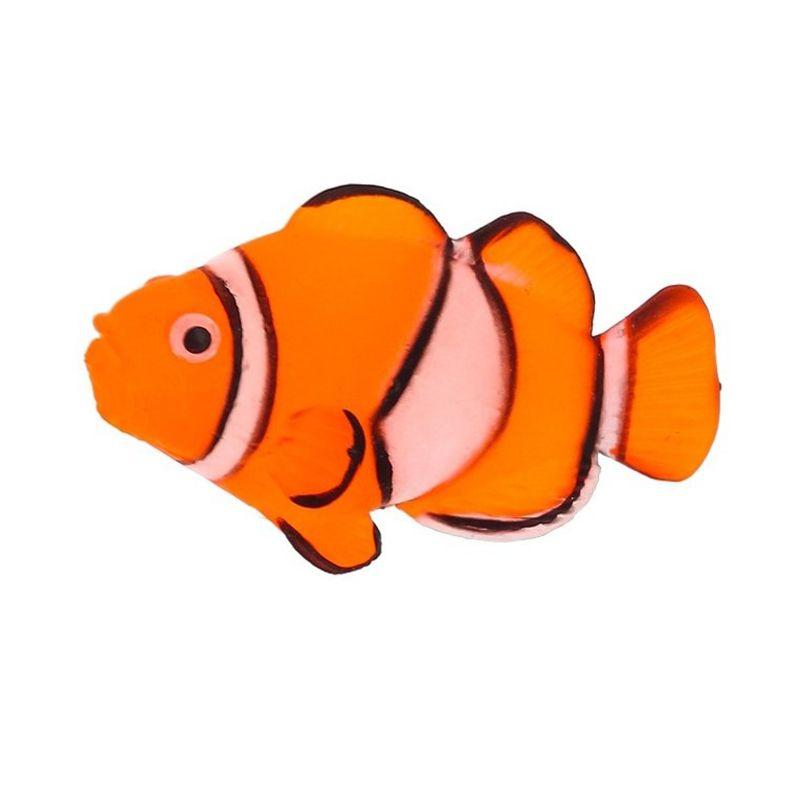 Декор для аквариумов GLOXY Флуоресцентный Рыба клоун на леске 7х2,5х4см