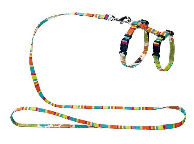 Купить со скидкой Шлейка для кошек и собак HUNTER Smart Stripes нейлон разноцветная