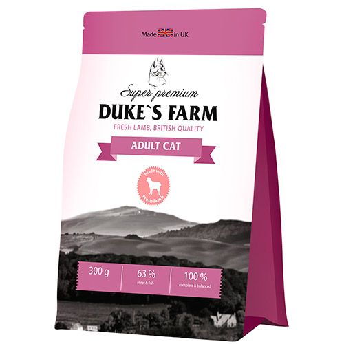 Корм для кошек DUKE'S FARM ягненок сух. 300г