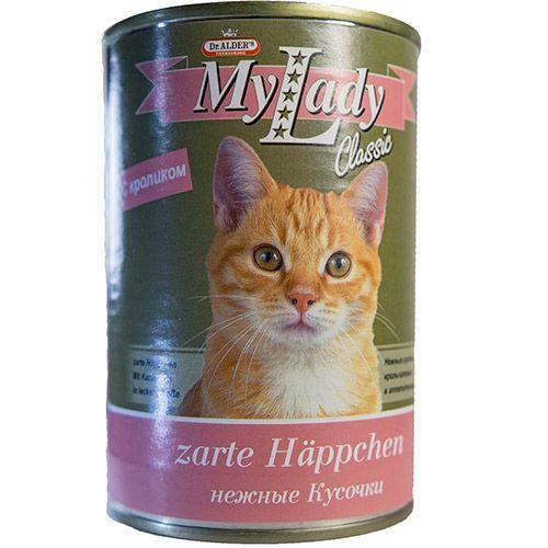Корм для кошек Dr. ALDER`s My Lady Classic кусочки в соусе, кролик конс. 415г collins w my lady s money