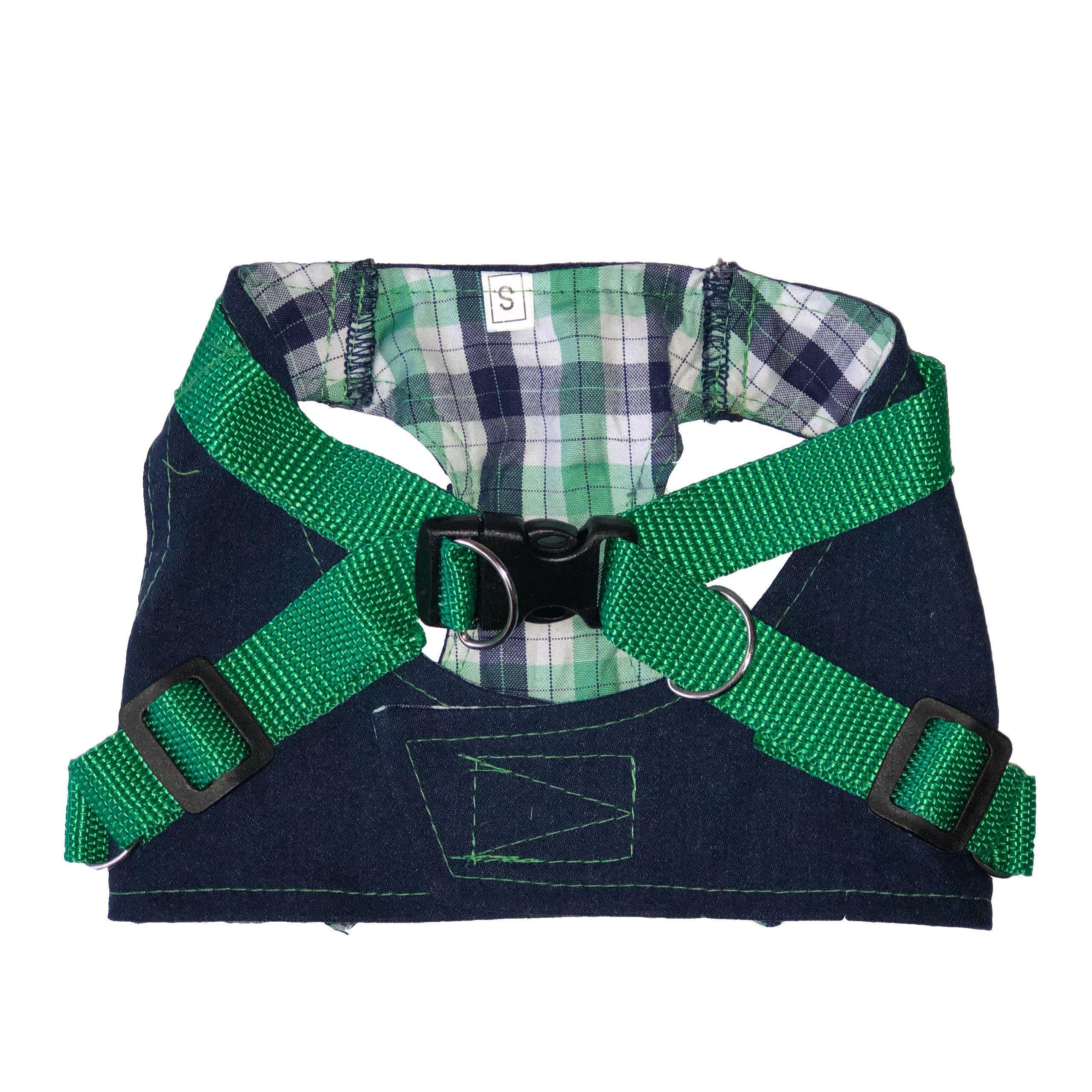 Шлейка для собак ДОГ МАСТЕР джинсовая размер S 24см фото