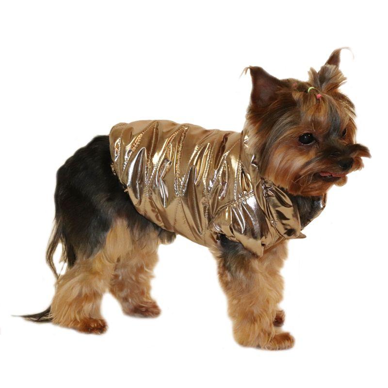 цена на Куртка для собак YORIKI Бронза унисекс L 28 см