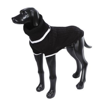 цена Свитер для собак RUKKA Mid Knitwear черный размер XL 50см онлайн в 2017 году