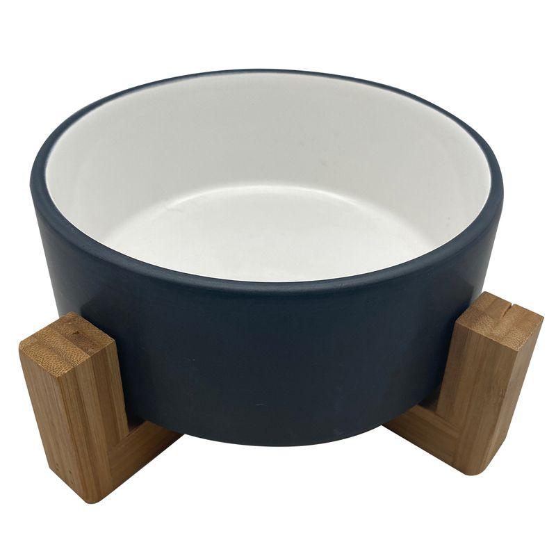 Миска для животных Foxie Bamboo Bowl белая керамическая 16х16х6,5см 820мл фото