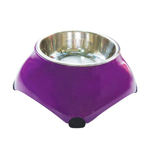 Миска для животных SUPER DESIGN меламиновая высокая фиолетовая 160мл