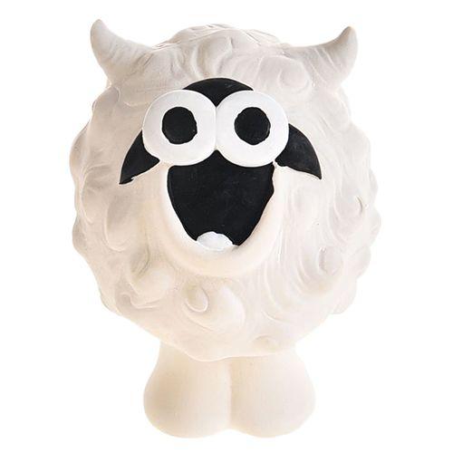 Игрушка для собак Foxie Овечка с пищалкой 11х7,5х7,5см латекс белая