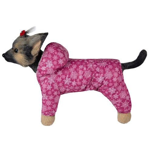 Комбинезон для собак Dogmoda Зима девочка, размер 3 28см комбинезон для собак dogmoda чарли унисекс 28см