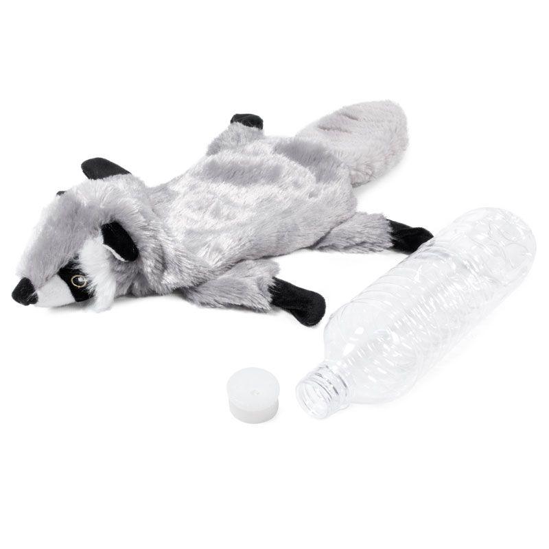Игрушка для собак GIGWI Catch & Fetch Шкурка енота с бутылкой-пищалкой 51см