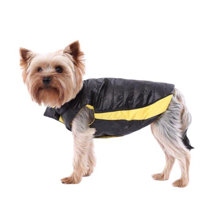 Жилет для собак YORIKI Контраст Черный унисекс размер S 20см комбинезон для собак yoriki тигровый унисекс цвет красный черный размер s