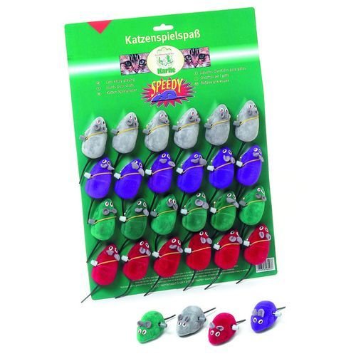 Игрушка для кошек Karlie Мышь вибрирующая 7см цветная ткань игрушка для кошек мышь на присоске
