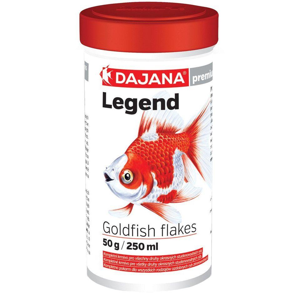 Корм для рыб DAJANA Legend Goldfish Flakes Хлопья для золотых рыб 250мл для рыб характерно