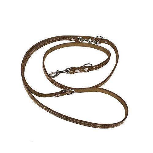 Перестёжка для собак ДАРЭЛЛ 16 мм стальной карабин, длина от 1,2м до 2,0м