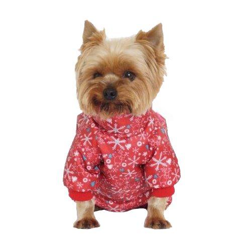 Комбинезон для собак YORIKI Новогодний девочка размер S 21см комбинезон для собак yoriki тигровый унисекс цвет красный черный размер s