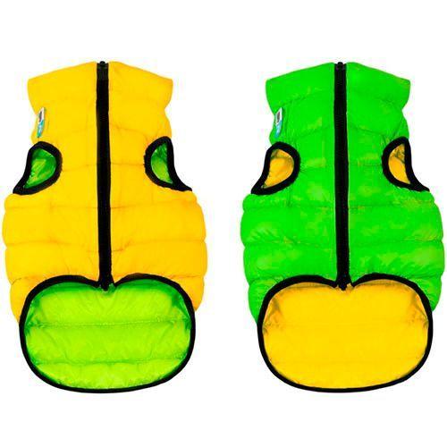 Куртка для собак AiryVest двухсторонняя размер S 35см салатово-желтая