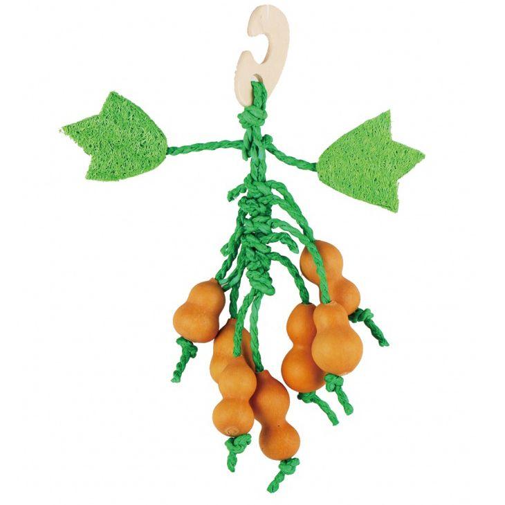 Игрушка для грызунов FAUNA international Тыква 22см дерево, люффа
