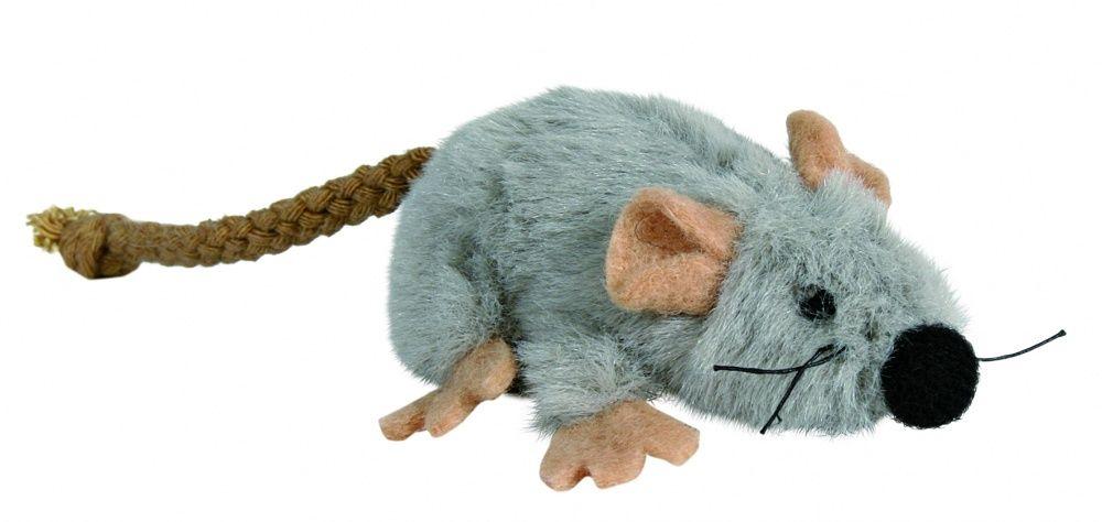 Игрушка для кошек TRIXIE Мышь 7см плюш серый