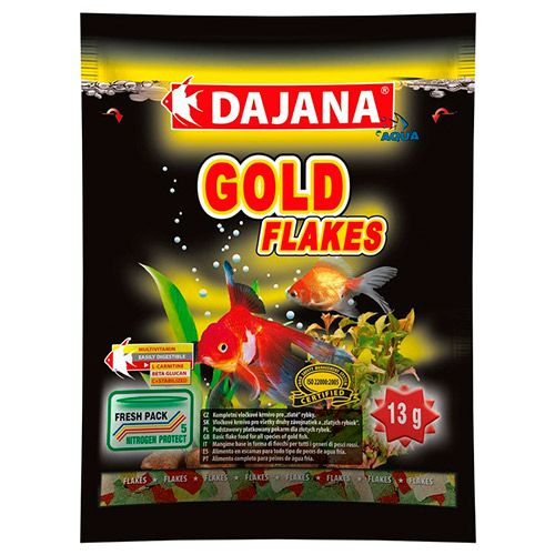 Корм для рыб DAJANA Gold Flaces хлопья 80мл