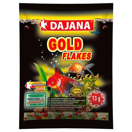Фото - Корм для рыб DAJANA Gold Flaces хлопья 80мл сухой корм для рыб dajana pet betta 100 мл 25 г