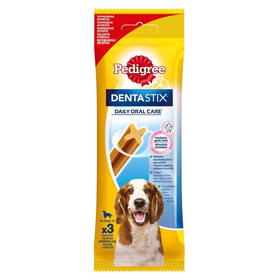Лакомство для собак Pedigree Denta Stix для ухода за зубами для щенков и собак мелких пород 77г