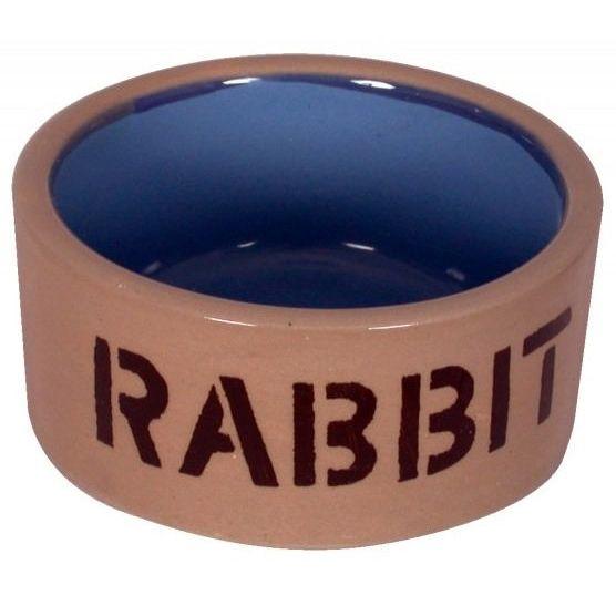 Миска для кроликов Beeztees керамическая бежево-голубая 11,5см миска beeztees керамическая для хомяка бежево голубая 7 5 см бежево голубая