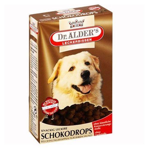 Лакомство для собак Dr. ALDER`s SchocoDrops Шоколадные 250г недорого