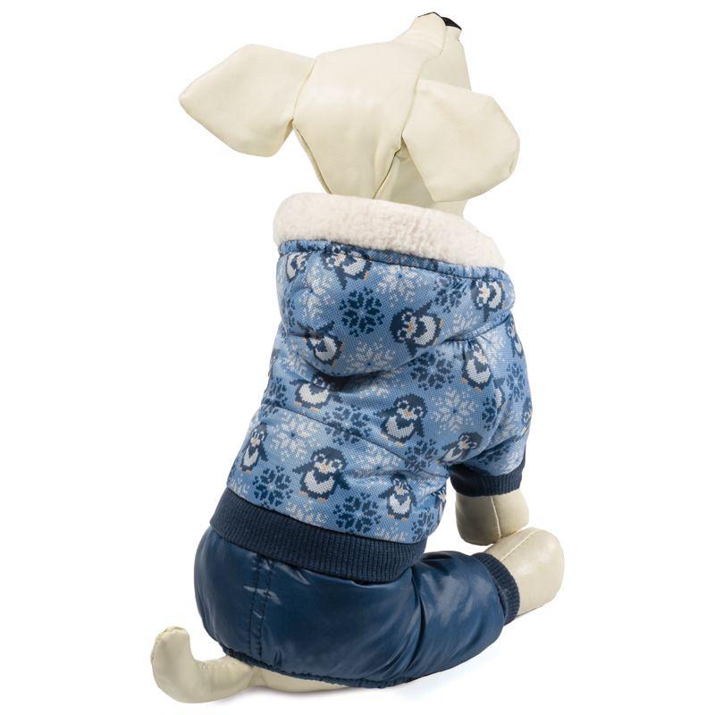 Комбинезон для собак TRIOL зимний Пингвины S, размер 25см