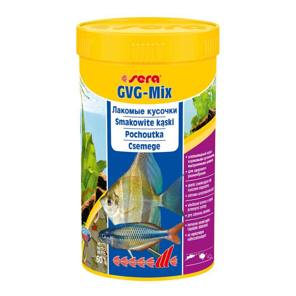Корм для рыб универсальный SERA GVG-mix 250 мл 60 г (лакомые кусочки с хлопьями) (S0350)