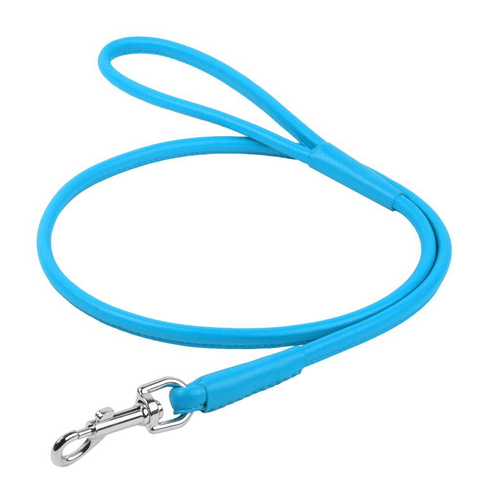 Поводок для собак COLLAR Glamour круглый 8мм, 122см синий поводок для собак collar glamour 12мм 122см розовый