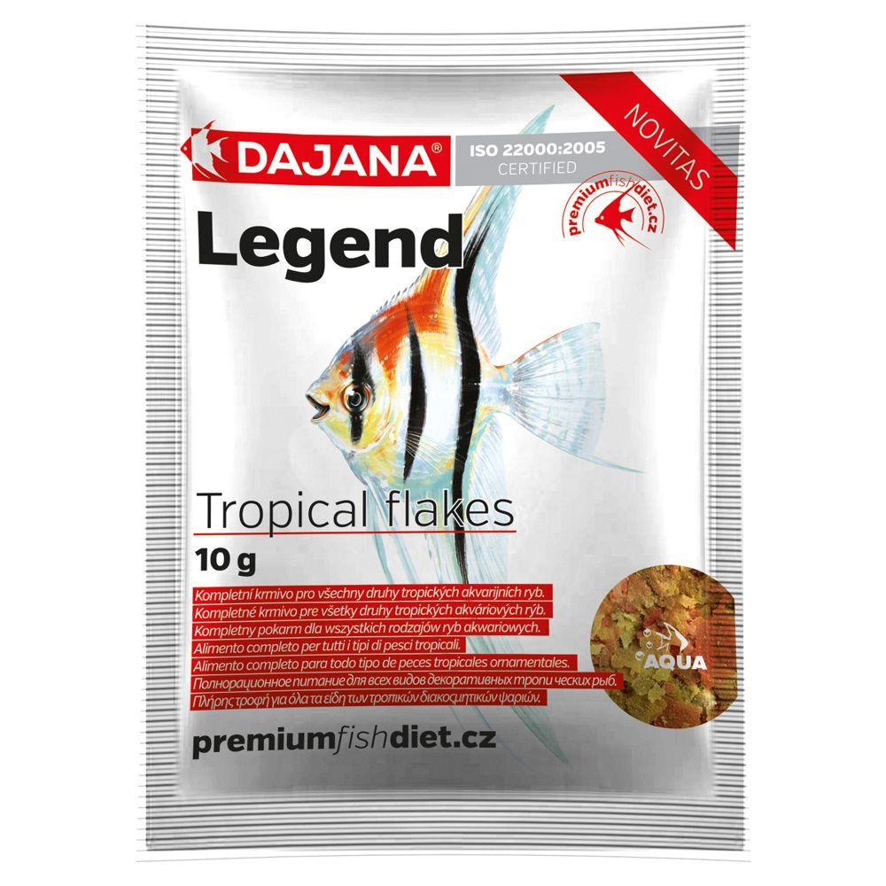 Корм для рыб DAJANA Legend Tropical Flakes хлопья 10г (80мл) п/т захват для бочек able vld г п 1 0 т