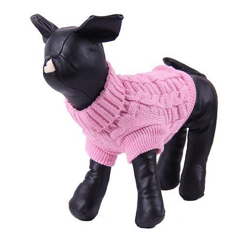 Свитер для собак PrettyPet розовый размер L, спина 30см