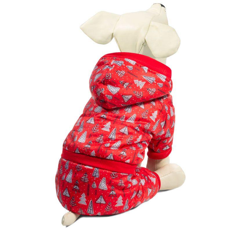 Комбинезон для собак TRIOL зимний Елочки S, размер 25см